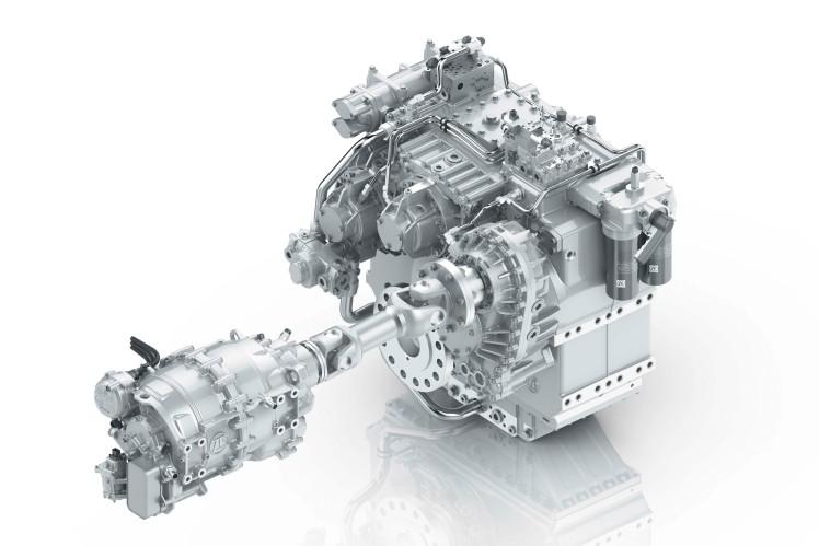 ZF 8300 PTI mit CeTrax - Hybridgetriebe für Marine