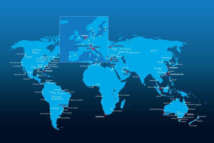 ZF Marine Standorte weltweit